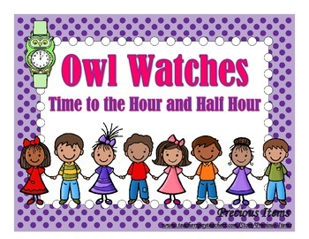 Owl Watches:  Time to the Hour and Half Hour