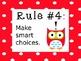 Owl Whole Brain Teaching Rules - Editable