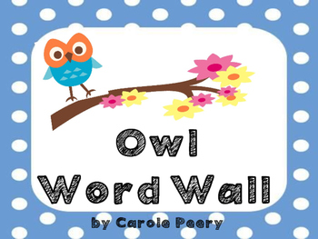 Owls Dolch Word Wall