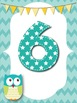 Owl Word Wall Alphabet and Numbers Headings *Chevron*