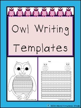 Owl Writing Template