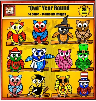 """Owl Clip art to use """"owl"""" year long"""