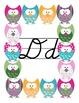 Owl alphabet script classroom decor