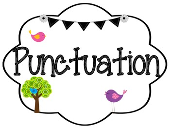 Bird and Owl Themed Punctuation and Parts of Speech Posters