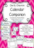 Calendar Companion {Owl & Chevron}
