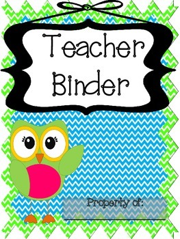 Owl and Chevron *EDITABLE* Ultimate Teacher Binder