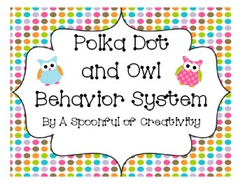 Owl and Polka Dot Design Behavior System