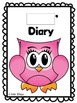 Owl diary in English and Spanish