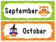 Owl monthly calendar labels