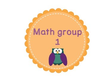 Owl themed Math group labels