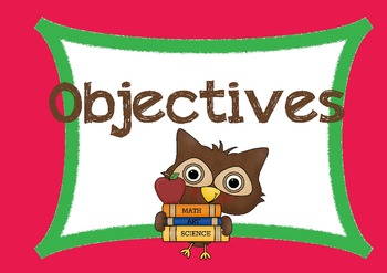 Owl-themed Objectives Templates