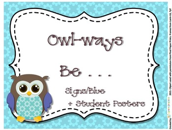 Owl Signs Forest Series -Owl-ways Inspirational Classroom