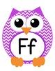 Owlphabet Chevron Owl Alphabet Printables