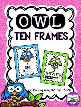 Owls Classroom Theme - Owls Ten Frames