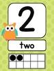 Owls & Bright Polka Dot Number Signs