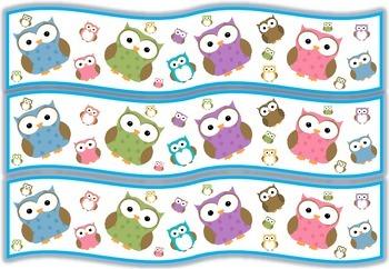 Owls Bulletin Board/Display Board Borders