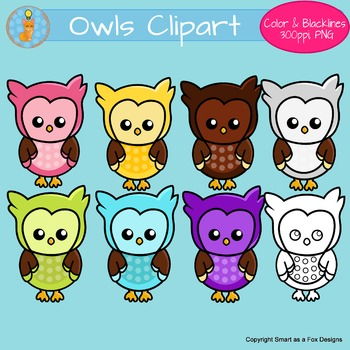 Owls Clipart Back to School
