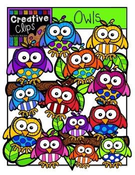 Owls {Creative Clips Digital Clipart}