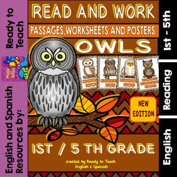 Owls Easy Readings and Worksheets (Life Cycle -Flip Flaps