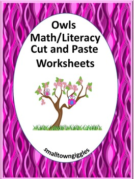 Kindergarten Morning Work Math & Literacy Cut and Paste Wo