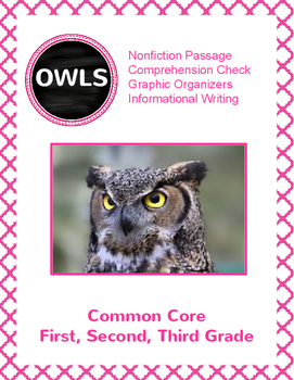 Owls: Nonfiction Text, Comprension Sheets and Informationa