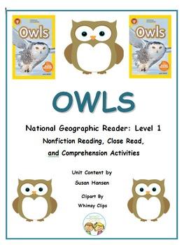 Owls Nonfiction Unit: National Geographic Kids