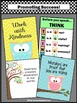 Owls Classroom Decor Motivational Quotes Set of 4 Posters