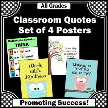 owl posters teacher classroom printable decorations