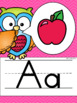 Alphabet Posters and Bunting {Owls and Chevron Decor Theme}
