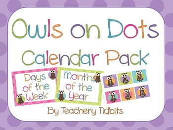 Owls on Dots Calendar Pack