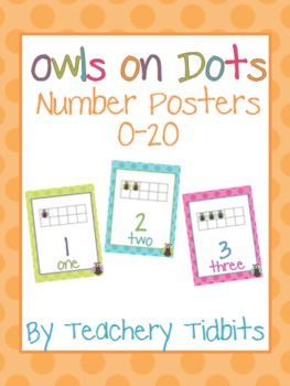 Owls on Dots Number Posters