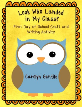 Owl back to school writing and craft activity Look Who Lan