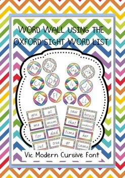 Oxford Sight Words 0-200 Word Wall Resouces Vic Modern Cur