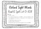 Oxford Sight Words Homework List - 0-308 words- Read and S