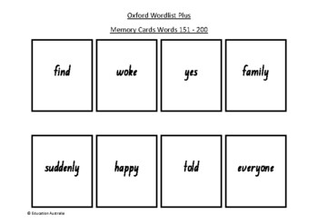 Oxford Wordlist Plus Flash Cards Set - Words 151 - 200 - M