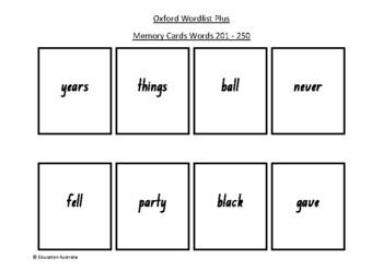 Oxford Wordlist Plus Flash Cards Set - Words 201 - 250 - M