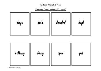 Oxford Wordlist Plus Flash Cards Set - Words 351 - 400 - M