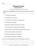 Oxymorons Worksheet
