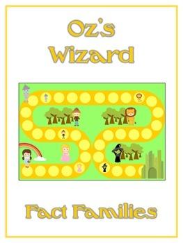 Oz's Wizard Math Folder Game - Common Core - Fact Families