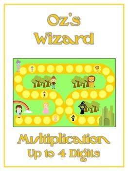 Oz's Wizard Math Folder Game - Common Core - Multiplicatio