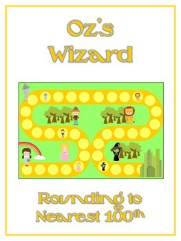Oz's Wizard Math Folder Game - Common Core - Rounding to N