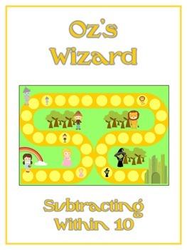 Oz's Wizard Math Folder Game - Common Core - Subtracting w