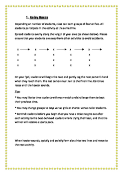 P-2 Physical Education Activity Cards
