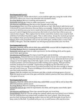 P.E. Lesson Plans (Pack of 5)