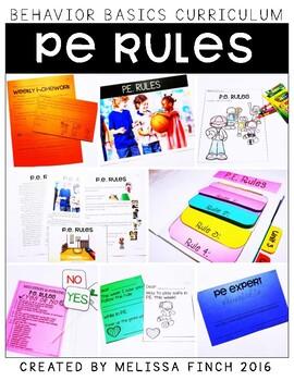 P.E. Rules- Behavior Basics Program for Special Education