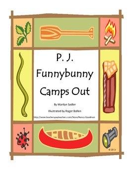 P. J. Funnybunny Camps Out by Marilyn Sadler spring reading unit