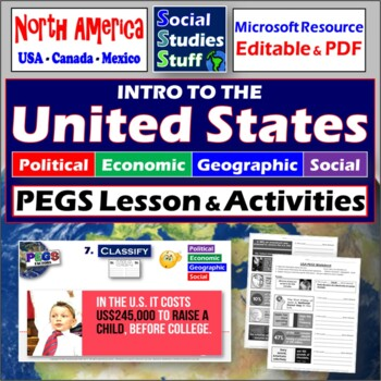 USA PEGS Practice and handout (Political,Economic,Geograph