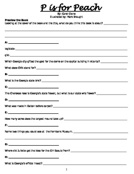 P is for Peach Book Study Packet