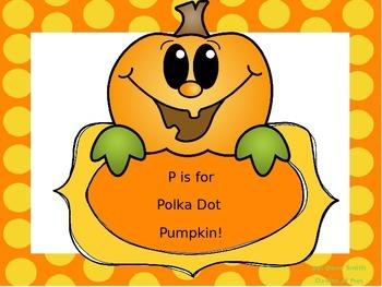 P is for Polka Dot Pumpkin!