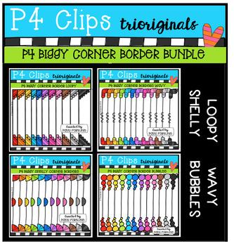 P4 BIGGY Corner Border BUNDLE (P4 Clips Trioriginals Digit
